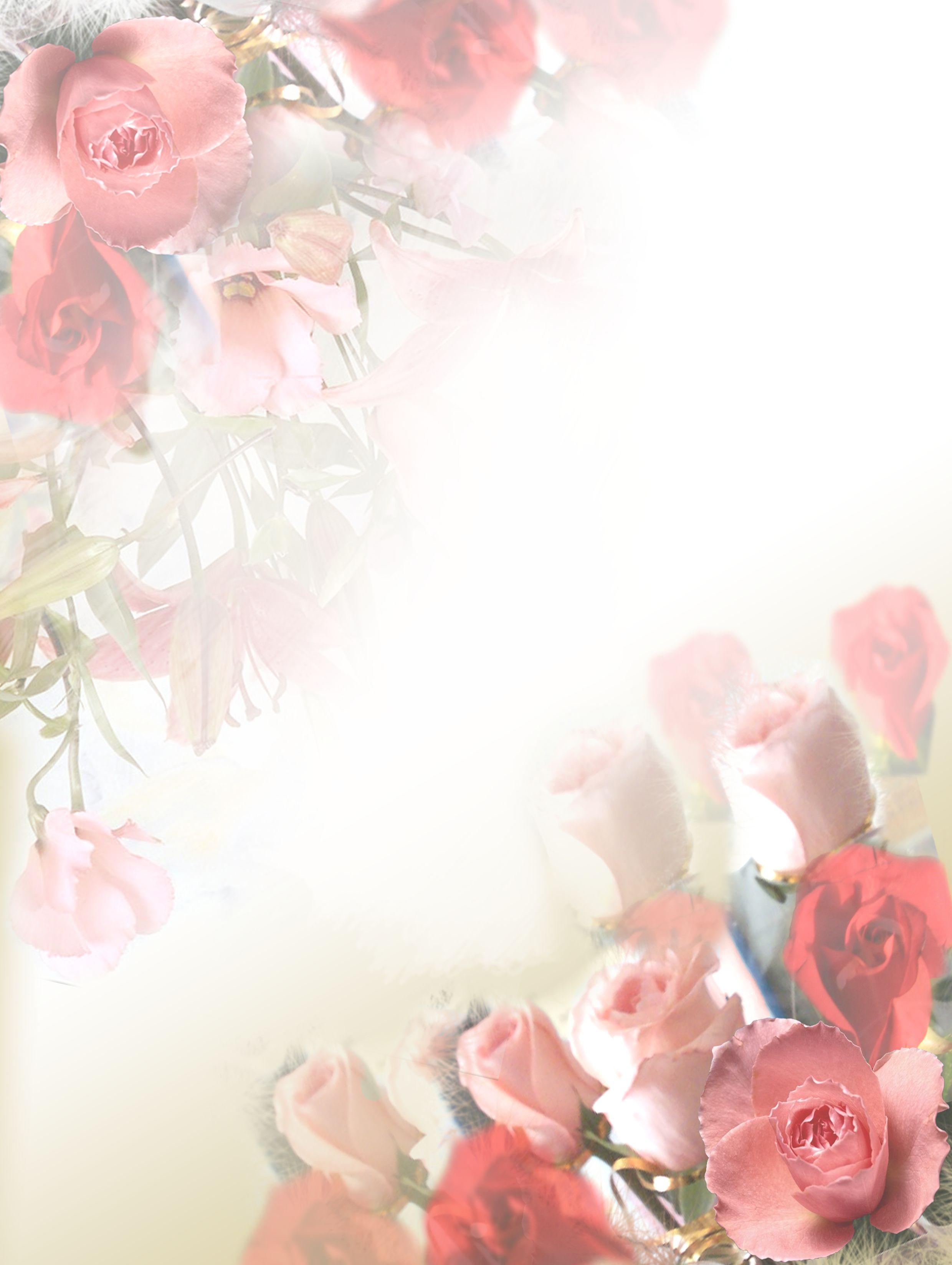 Открытки с фонами цветов
